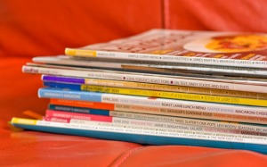Some of the many (far too many probably) food magazines I've got left...